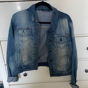 Distressed Blue Notes Jean Jacket